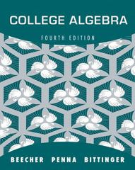College Algebra 4th Edition 9780321693990 032169399X