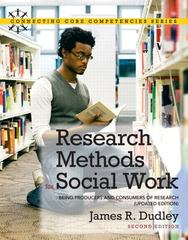Research Methods for Social Work 2nd Edition 9780205011216 0205011217