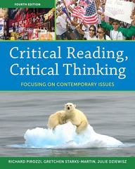 Critical Reading Critical Thinking 4th Edition 9780205835225 0205835228