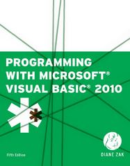 Programming with Microsoft Visual Basic 2010 5th edition 9781111529437 1111529434