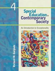 Special Education in Contemporary Society 4th edition 9781412988933 1412988934