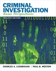 Criminal Investigation 12th Edition 9780135110515 0135110513