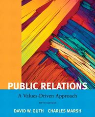 Public Relations 5th Edition 9780205811809 0205811809
