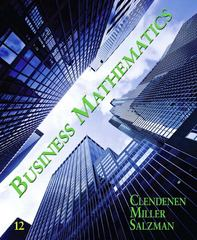 Business Mathematics 12th edition 9780135109786 0135109787