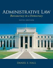Administrative Law 5th edition 9780135109496 0135109493