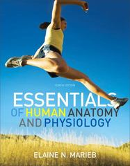 Essentials of Human Anatomy & Physiology 10th Edition 9780321695987 0321695984