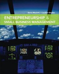 Entrepreneurship and Small Business Management 1st Edition 9780135030318 0135030315