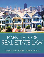 Essentials of Real Estate Law 1st Edition 9780135114285 0135114284