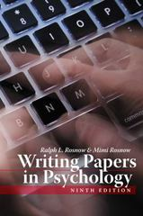 Writing Papers in Psychology 9th edition 9781111726133 1111726132