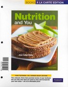 Nutrition and You, Books a la Carte Edition 2nd Edition 9780321721655 0321721659