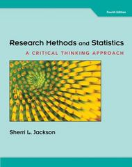 Research Methods and Statistics 4th edition 9781111346553 1111346550