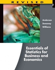 Essentials of Statistics for Business and Economics, Revised (with Essential Textbook Resources Printed Access Card) 6th edition 9781111533847 1111533849