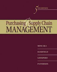 Purchasing and Supply Chain Management 5th Edition 9781133420590 1133420591