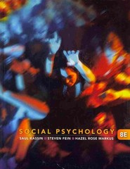Social Psychology 8e + Readings in Social Psychology 8th edition 9781111415129 1111415129