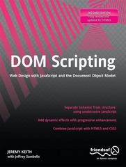 DOM Scripting 2nd Edition 9781430233893 1430233893