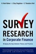 Survey Research in Corporate Finance 0 9780195340372 019534037X