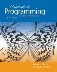 Prelude to Programming 5th edition 9780132167390 0132167395