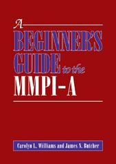 A Beginner's Guide to the MMPI-A 1st edition 9781433809385 1433809389