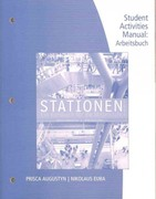 Student Activity Manual for Augustyn/Euba's Stationen 2nd edition 9781111341374 1111341370