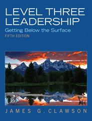 Level Three Leadership 5th Edition 9780132556415 0132556413