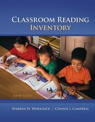 Classroom Reading Inventory 12th edition 9780078110252 0078110254