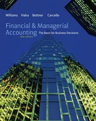 Financial & Managerial Accounting 16th edition 9780077559298 0077559290