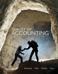 Survey of Accounting 3rd edition 9780078110856 0078110858