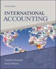 International Accounting 3rd Edition 9780078110955 0078110955