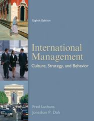 International Management 8th Edition 9780078112577 0078112575