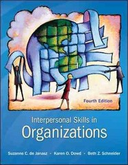 Interpersonal Skills in Organizations 4th Edition 9780078112560 0078112567