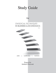 Study Guide to accompany Statistical Techniques in Business &amp. Economics 15e 15th Edition 9780077327118 007732711X