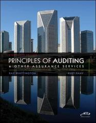 Principles of Auditing and Other Assurance Services 18th Edition 9780078111037 007811103X