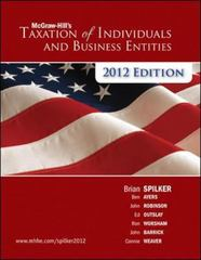 McGraw-Hill's Taxation of Individuals and Business Entities, 2012 edition 3rd edition 9780078111068 0078111064