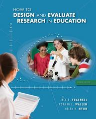 How to Design and Evaluate Research in Education 8th edition 9780078097850 0078097851
