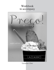Workbook for Prego! 8th edition 9780077382513 007738251X