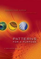 Patterns for a Purpose 6th Edition 9780073383958 0073383953