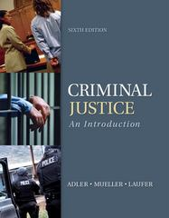 Criminal Justice 6th Edition 9780078026515 0078026512