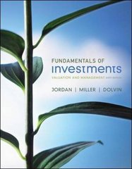 Fundamentals of Investments 6th Edition 9780073530710 0073530719