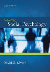 Exploring Social Psychology 6th Edition 9780078035173 0078035171