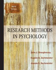 Research Methods In Psychology 9th Edition 9780078035180 007803518X