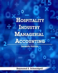 Hospitality Industry Managerial Accounting 7th Edition 9780866123594 0866123598