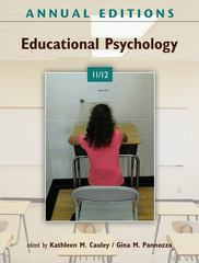 Annual Editions: Educational Psychology 11/12 26th Edition 9780078050954 0078050952