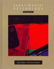 Experimental Psychology 7th edition 9780495602316 0495602310