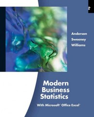 Modern Business Statistics with Microsoft Excel (with Printed Access Card) 4th edition 9780538479752 0538479752