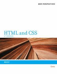 New Perspectives on HTML and CSS 6th Edition 9781111526450 1111526451