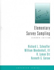 Elementary Survey Sampling 7th Edition 9780840053619 0840053614