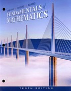 Cengage Advantage Books: Fundamentals of Mathematics 10th edition 9781111578398 1111578397