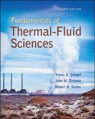 Fundamentals of Thermal-Fluidsciences 4th Edition 9780073380209 0073380202