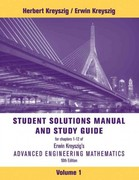 Advanced Engineering Mathematics, Student Solutions Manual 10th edition 9781118007402 1118007409