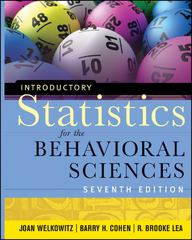 Introductory Statistics for the Behavioral Sciences 7th Edition 9780470907764 0470907762